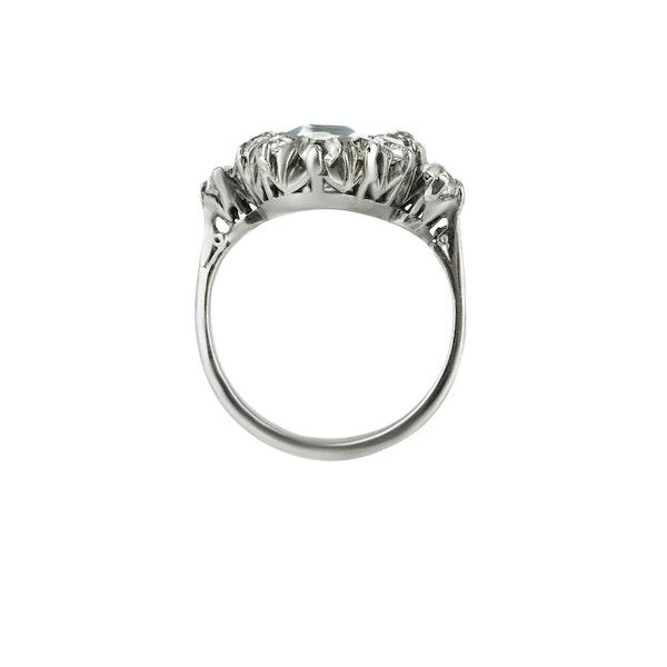 Aquamarine & Diamond Ring - image 2