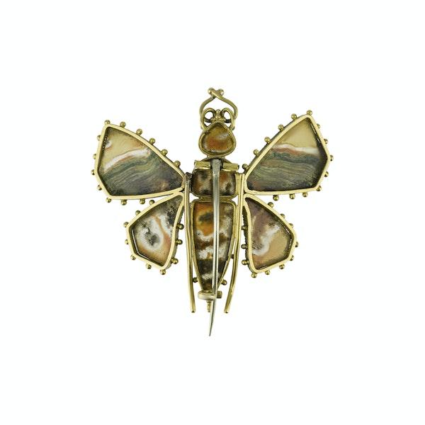 Georgian Moss Agate Butterfly - image 2