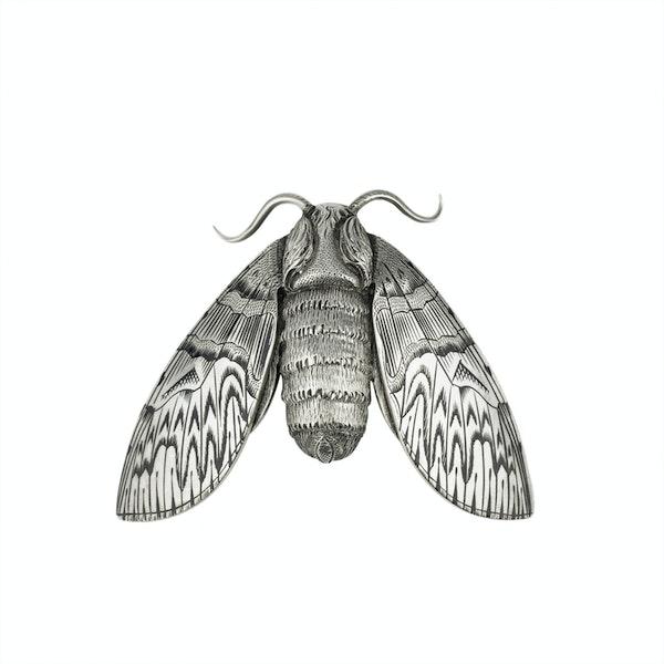 Silver and Niello Cicada  Brooch - image 1