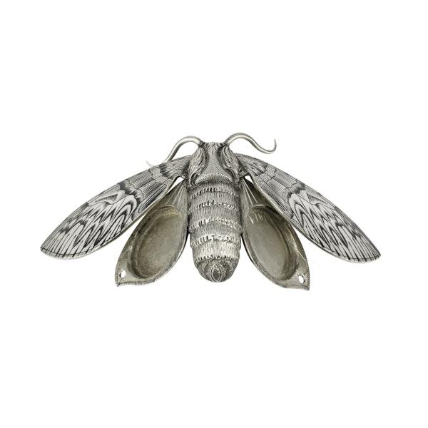 Silver and Niello Cicada  Brooch - image 2
