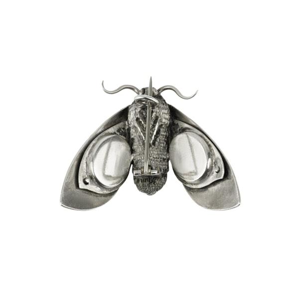 Silver and Niello Cicada  Brooch - image 3
