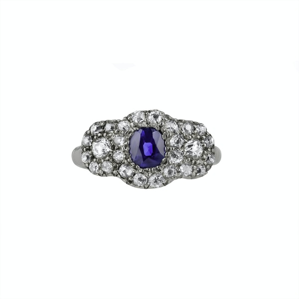 Sapphire & Diamond Ring - image 1