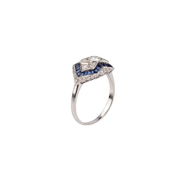Diamond sapphire ring - image 1