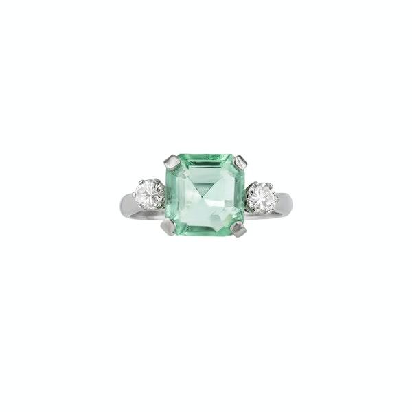 Emerald & Diamond Ring - image 1