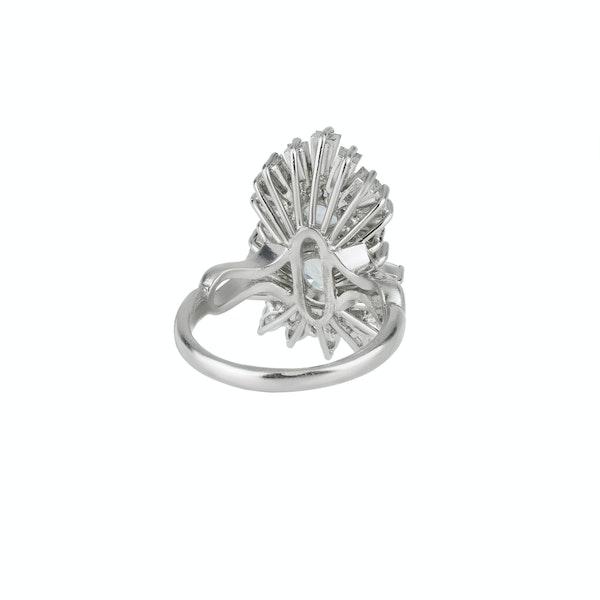 Aquamarine and Diamond Ring - image 2