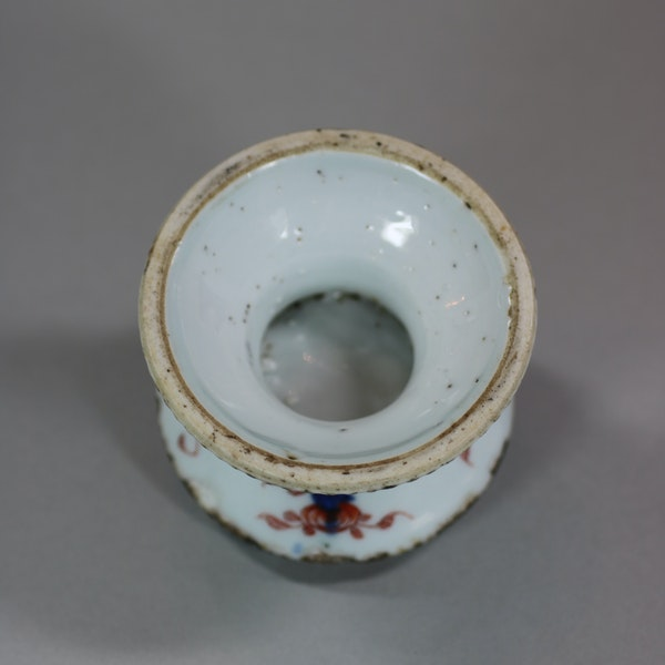 Chinese Imari ribbed armorial salt, Yonzheng (1723-1735) - image 3
