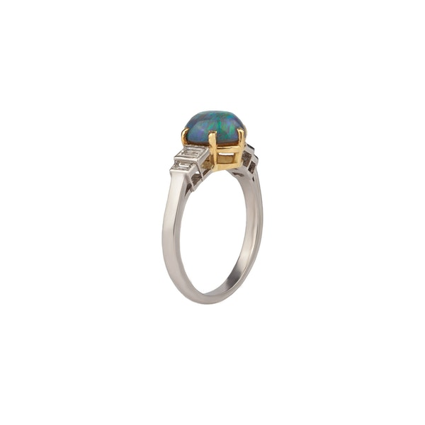 A Black Opal Ring Offered by The Gilded Lily - image 1
