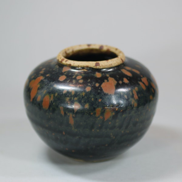 Small Chinese 'cizhou' russet-splashed black-glazed jar, Song dynasty - image 1