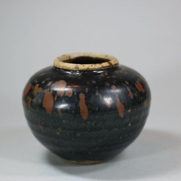 Small Chinese 'cizhou' russet-splashed black-glazed jar, Song dynasty - image 2