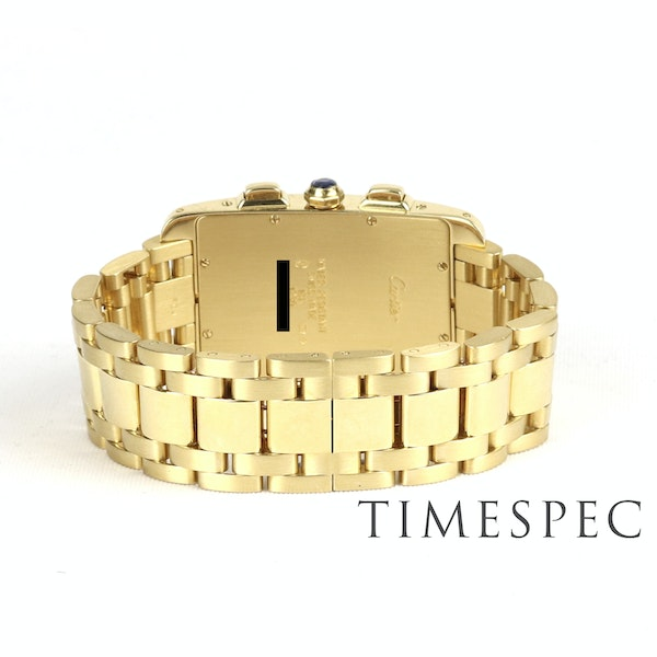 Cartier Tank Américaine Chronograph, 18k Yellow Gold, Gents, 26x45mm - image 4