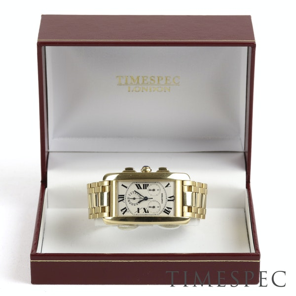 Cartier Tank Américaine Chronograph, 18k Yellow Gold, Gents, 26x45mm - image 2