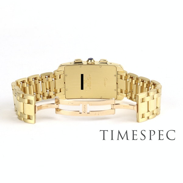 Cartier Tank Américaine Chronograph, 18k Yellow Gold, Gents, 26x45mm - image 5