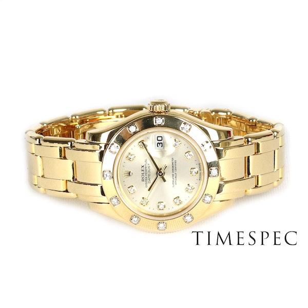 Rolex Lady Pearl-master 18K Yellow Gold & Bracelet 80319 - image 5