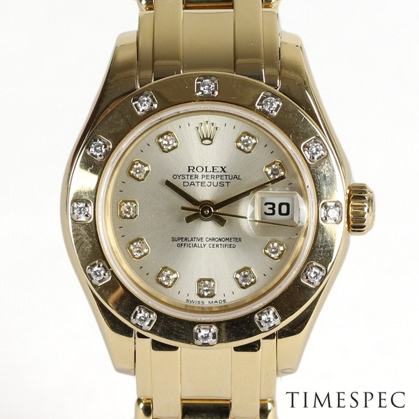 Rolex Lady Pearl-master 18K Yellow Gold & Bracelet 80319 - image 1