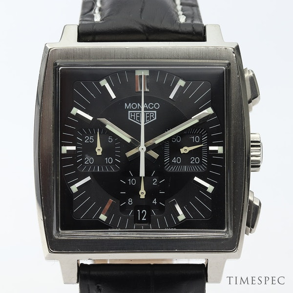 TAG Heuer Monaco Chronograph First Re-Edition Black Dial - image 1