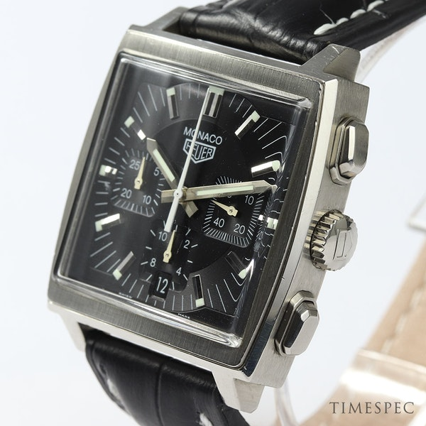 TAG Heuer Monaco Chronograph First Re-Edition Black Dial - image 3