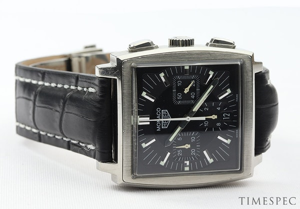 TAG Heuer Monaco Chronograph First Re-Edition Black Dial - image 6