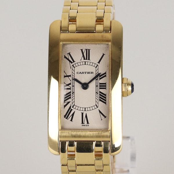 Cartier Tank AMÉRICAINE. Small model.18K Yellow Gold Quartz movement, Ladies - image 1