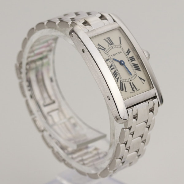 Cartier Tank Américaine Ladies 18K White Gold With Box - image 3