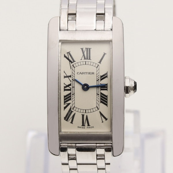 Cartier Tank Américaine Ladies 18K White Gold With Box - image 1