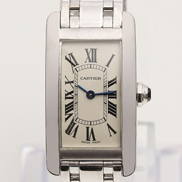 Cartier Tank Américaine Ladies 18K White Gold With Box - image 4