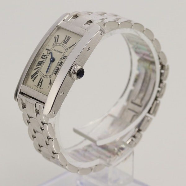 Cartier Tank Américaine Ladies 18K White Gold With Box - image 2
