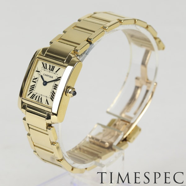 Cartier Tank Française Ladies 18k Yellow Gold, 20mm, Small Size - image 3