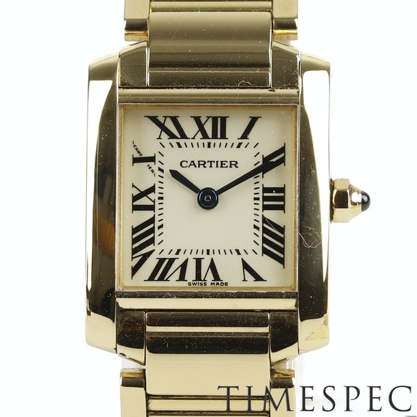 Cartier Tank Française Ladies 18k Yellow Gold, 20mm, Small Size - image 1