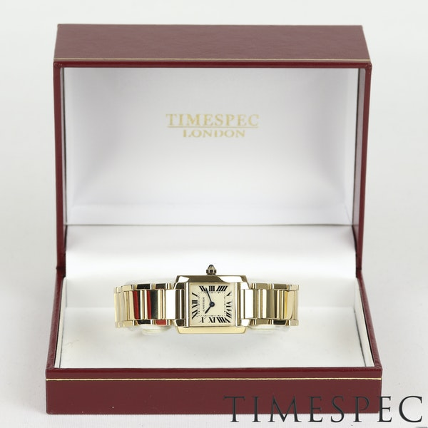 Cartier Tank Française Ladies 18k Yellow Gold, 20mm, Small Size - image 7