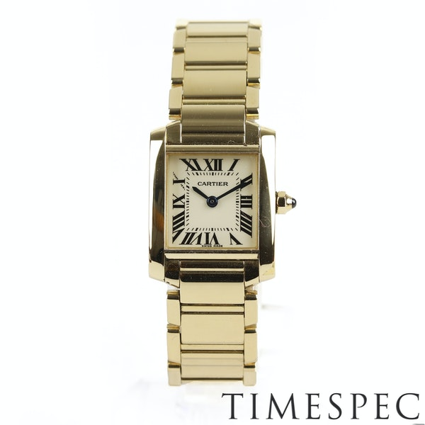 Cartier Tank Française Ladies 18k Yellow Gold, 20mm, Small Size - image 2