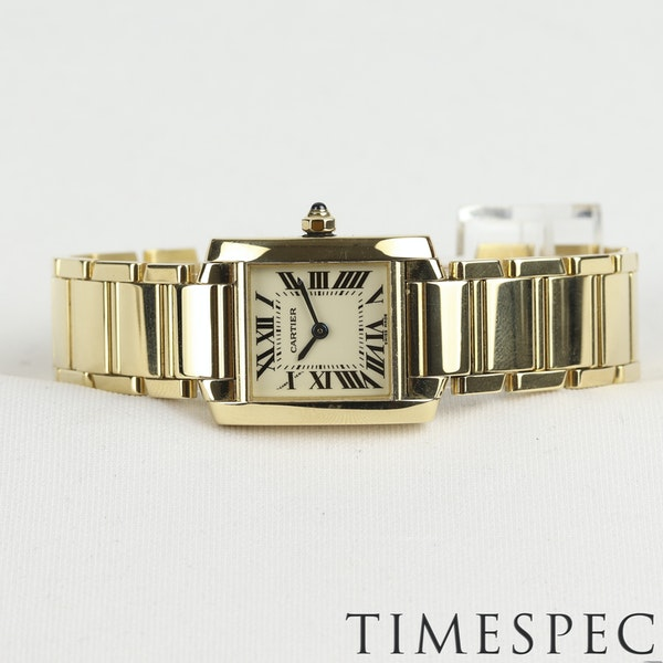Cartier Tank Française Ladies 18k Yellow Gold, 20mm, Small Size - image 4