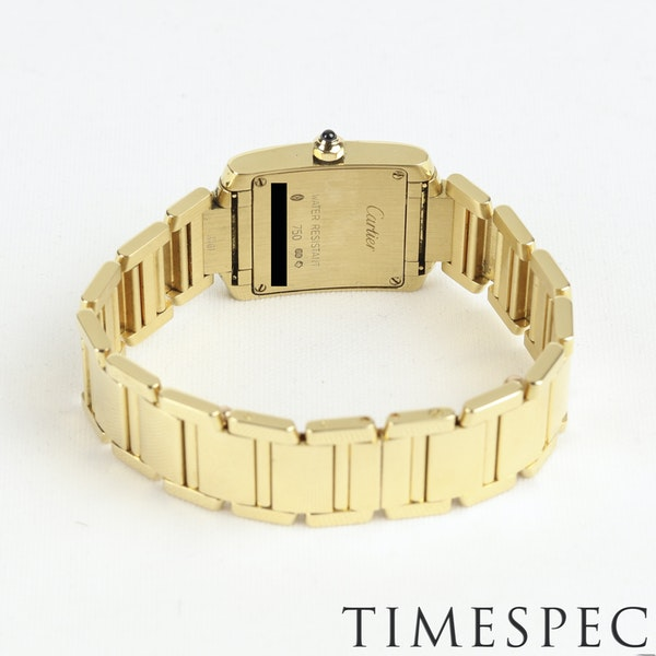 Cartier Tank Française Ladies 18k Yellow Gold, 20mm, Small Size - image 5