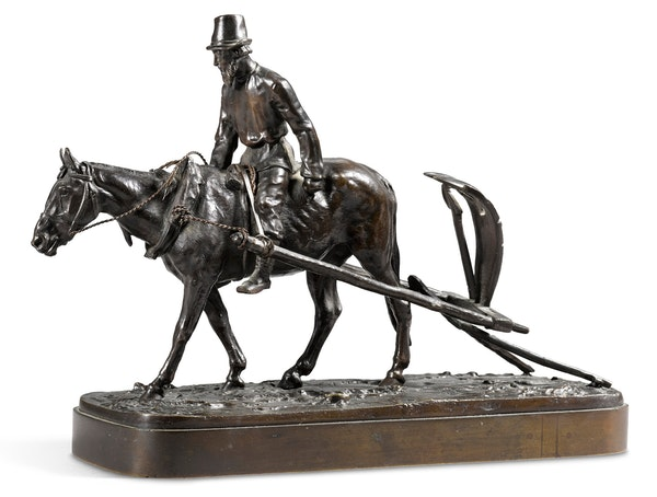 19th Century Russian Bronze, Return from the Fields by Evgeny Lanceray, 1878 - image 2