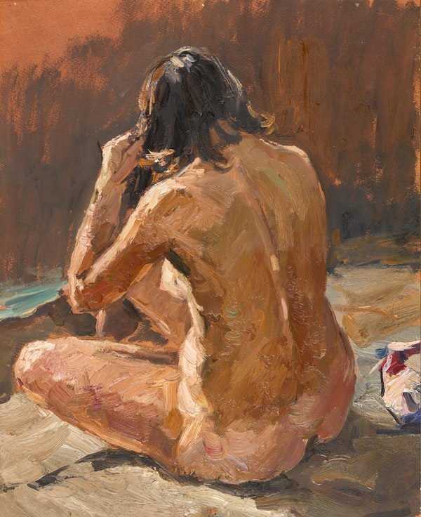 Vladimir Fedorovich Stozharov (1926-1973), Study of a Seated Woman, Oil on Paper, 1961 - image 1