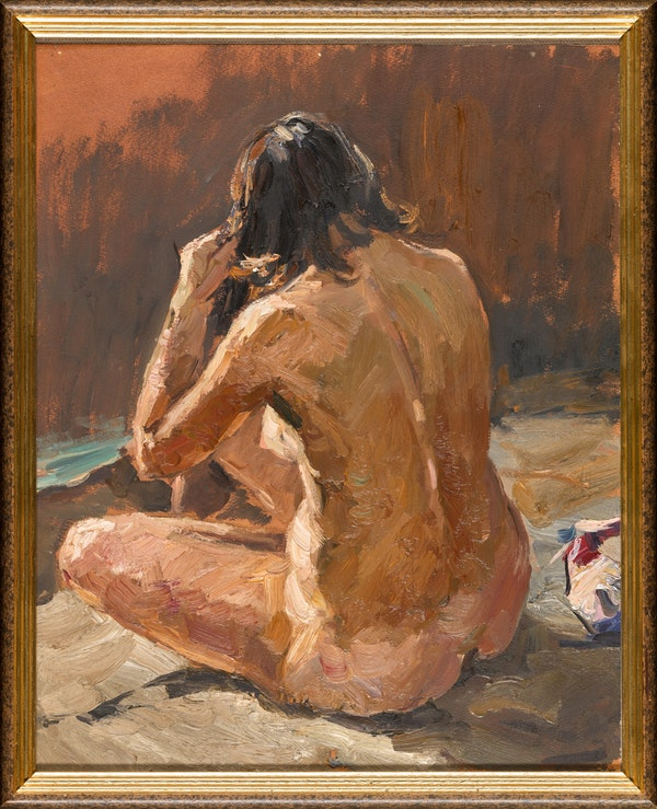 Vladimir Fedorovich Stozharov (1926-1973), Study of a Seated Woman, Oil on Paper, 1961 - image 2