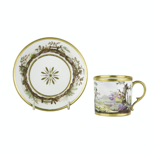 Cup/saucer french coffee - image 1
