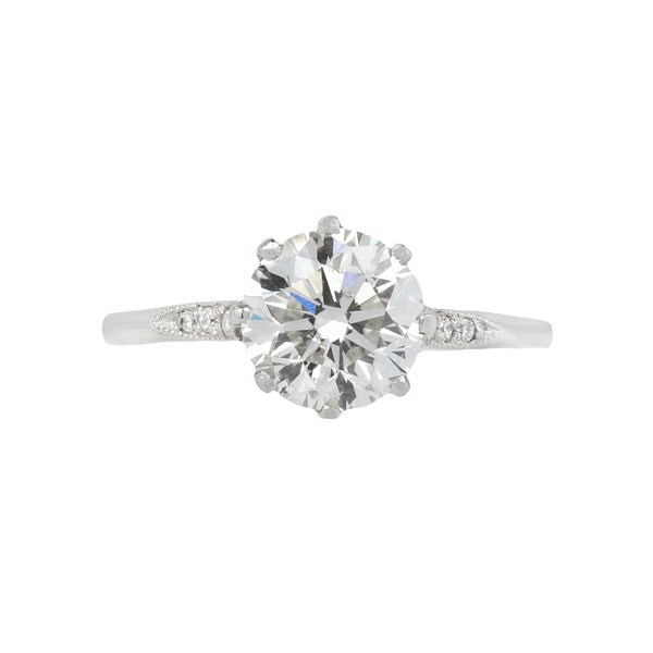 Diamond Solitaire Ring - image 1