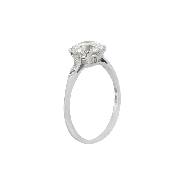 Diamond Solitaire Ring - image 2