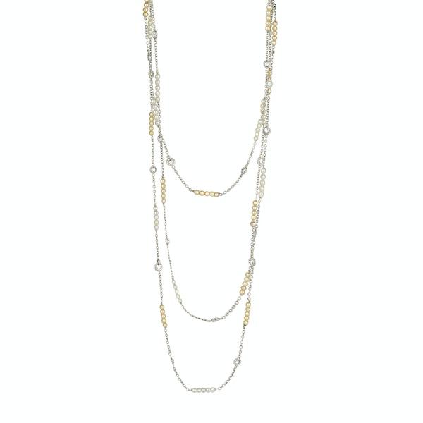 Pearl Diamond Long Chain - image 2