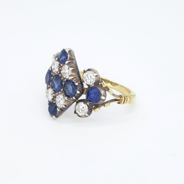 Victorian Sapphire and Diamond Ring - image 2