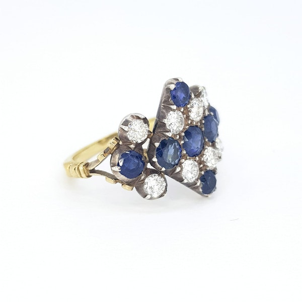 Victorian Sapphire and Diamond Ring - image 3