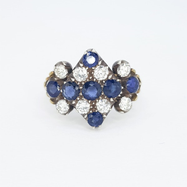 Victorian Sapphire and Diamond Ring - image 1