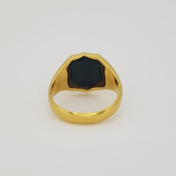 Bloodstone Signet Ring - image 4
