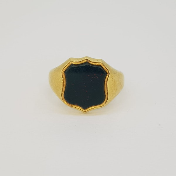 Bloodstone Signet Ring - image 1