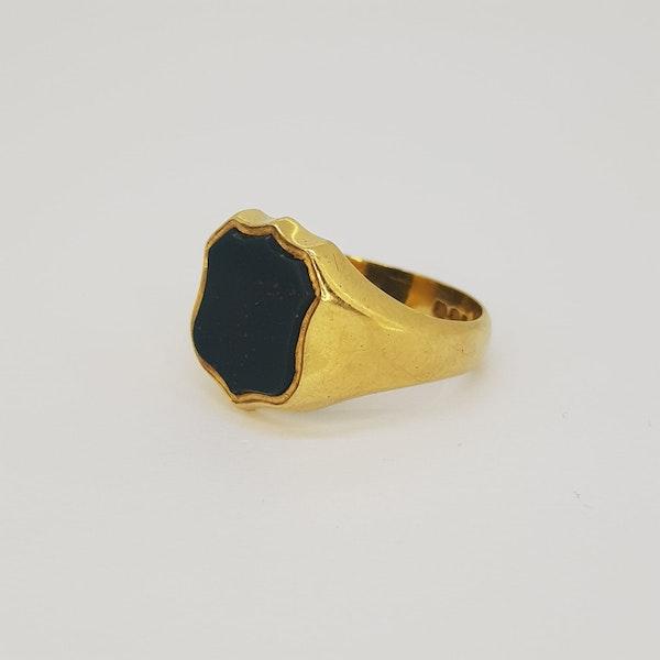 Bloodstone Signet Ring - image 2