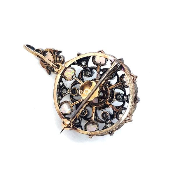 Opal and Diamond Pendant/Brooch - image 4