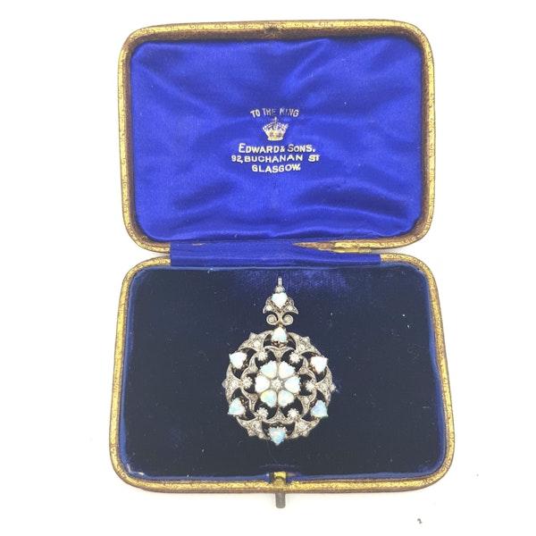 Opal and Diamond Pendant/Brooch - image 1