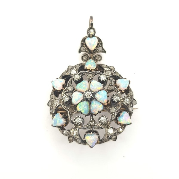 Opal and Diamond Pendant/Brooch - image 3