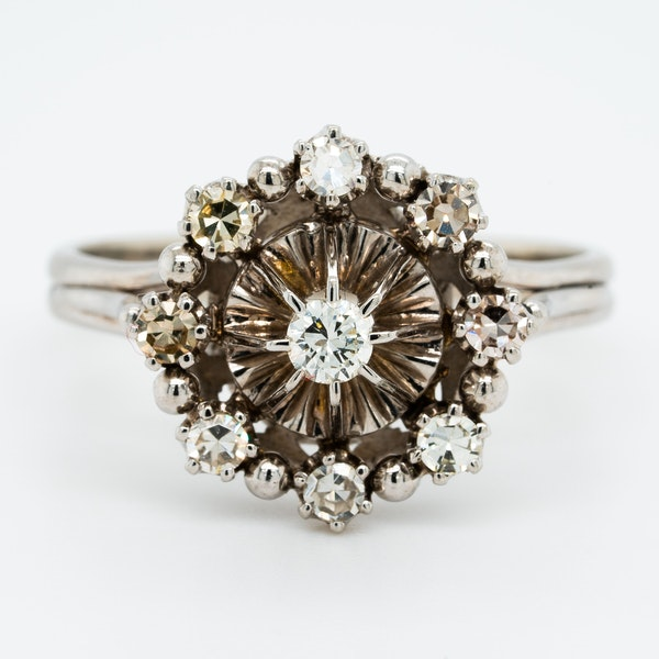 Diamond Cluster Ring - image 1