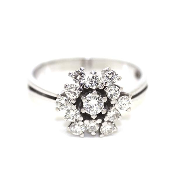 Modern Diamond Cluster Ring. S.Greenstein - image 1